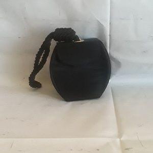 Very cute black satin clutch